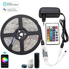 RGB LED Strip Light 5050 SMD 300LEDS WIFI remote for Alexa Google home full kit