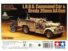 1/35 Tamiya British L.R.D.G. Command Car & Breda 20mm AA Gun #89785