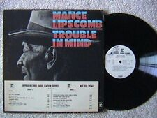 "Mance Lipscomb ""Trouble In Mind"" LP  Reprise 6404 White Label Radio Station Copy"