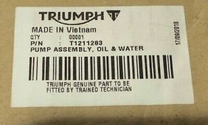 TRIUMPH PUMP ASSEMBLY OIL AND WATER 2014 Triumph Daytona T1211283