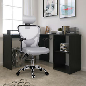 Summer Gaming Chair Padded Ergonomic Office Chair Mesh Back Support Swivel Chair