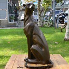 Western Home Abstract Art Deco Sculpture Pure Bronze Cheetah Leopard Statue