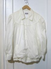 Vtg Off White Power Shoulder Snap Front Bomber Jacket  Women's Sz XL