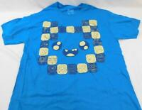 Loot Crate Exclusive Adventure Time Blue Shirt Large L New Fun Will Never End