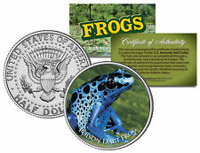 POISON DART FROG * Collectible Frogs * JFK Kennedy Half Dollar US Colorized Coin