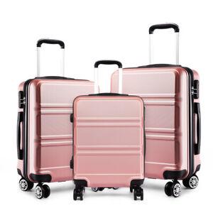 Hartschale Zwillingsrollen ABS Kabinentrolley Reisekoffer Zahlenschloss Koffer
