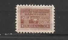 9235-SELLO FISCAL 1930 CAJA PENSIONES VEJEZ AHORRO BARCELONA 1 CENTIMO.ANTIGUO S