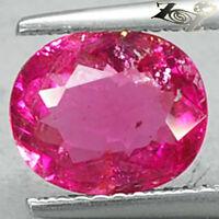 2.02 CT.Natural Oval Vivid Reddish Pink Nigeria Rubellite Tourmaline Gem 碧璽電氣石