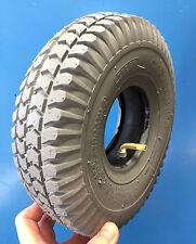 1 Set=  Reifen + Schlauch blaugrau 3.00-4 260x85 Rollstuhl E-Mobil Elektromobil