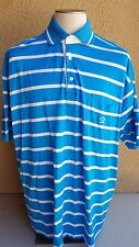 PAUL &  SHARK Yachting Men's 5XL Polo Rugby Shirt Blue-White Striped Ctn  Italy