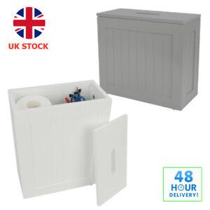 WOODEN BATHROOM STORAGE UNIT MULTIPURPOSE BATHROOM STORAGE CABINET SLIM BOX UK