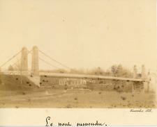 France, le pont du Fourneau de Bourbon-Lancy Vintage citrate print,  Tirage