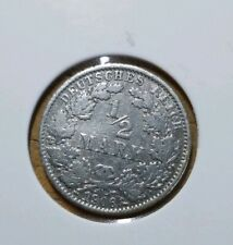 1/2 MARK 1906 E - Germany Empire Silver coin - km17 . Low mintage