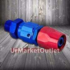 Red/Blue Straight Swivel Oil/Fuel/Fluid Line Hose End 4AN T3 Fitting Adapter