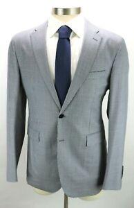 NWT $1550 BURBERRY LONDON Wool Coat Jacket 38 R (48 EU) Light Blue Stirling