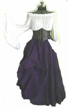 Renaissance Dress Chemise Corset Skirt Steampunk Pirate Wench Halloween Costume