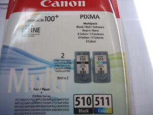 PG-510 +CL-511 Duopack Black+Color Canon Pixma MP240 MP-495 MX410 MX360