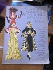 Glamorous Movie Stars of the Thirties, Paper Dolls,1978 Book by Tom Tierney