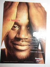 PUBLICITE REEBOK // BASKET NBA // SHAQUILLE O' NEAL