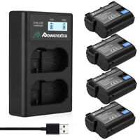 EN-EL15 Battery For Nikon D7100 D7200 D7000 D600 D610 D800 D810  & USB Charger