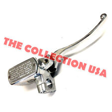 Chrome Right Master Cylinder With Lever 150t-e Vintage Znen Bms Heritage
