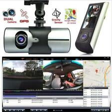 "2.7"" 1080P Car DVR Vehicle Camera Video Recorder Dash Cam G-Sensor GPS Dual Lens"