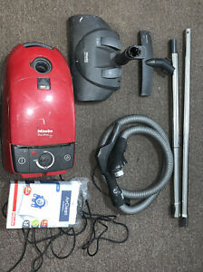 """""""MIELE"""" Red Star Vacuum Used Loaded Nice Package w/ Electro Plus"""