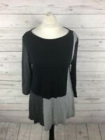 PHASE EIGHT Top - Size UK10 - Black & Grey - Great Condition - Women's