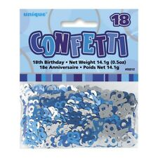GLITZ BLUE AND SILVER 18TH BIRTHDAY PARTY DECORATIONS TABLE SCATTERS CONFETTI