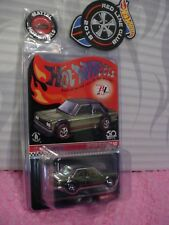 2018 Club Car Exclusive DATSUN BLUEBIRD 510+Button&Patch✿Redline✿Hot Wheels✿7687
