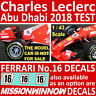 1/43 CHARLES LECLERC 'TEST' Decals for MISSION WINNOW FERRARI SF71-H 2018 Burago