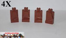 4XLego® 47847 Felsen Stein Panel Rock Rotbraun, Reddish Brown, 2X4X6, 54782