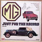 MG JUST FOR THE RECORD K3 C MGA J2 TA TC TF YB ZB MGB GT V8 M PA TB MGC SOUNDS