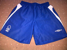 Nottingham Forest UMBRO BLUE Football Shorts EXTRA LARGE BOYS VGC