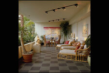 759080 Condominium Terrace Rattan Furniture A4 Photo Print