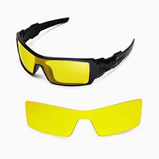 New Walleva Yellow Lenses For Oakley Oil Rig Sunglasses