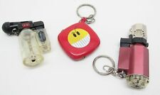 Novelty Lighters Lot of 3 Butane - 2 Blow Torch Smiley