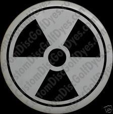 Disc Golf Custom Dye Stencil - Nuclear Symbol (2 Pack)