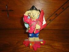 RCMP Canada Police Bear in Uniform Canadian Flag & Maple Leaf Painted Figurine