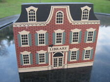 Wooden Library Plaque Usa Signed Joline 1991 Cats' Meow