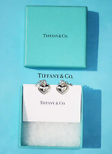 Tiffany & Co Heart Padlock & Key Sterling Silver Earrings