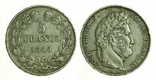 pcc1218_1) FRANCIA 5 francs Louis Philippe I 1845 W -  LILLE NC