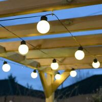Battery Power LED Outdoor Frosted Festoon Lights | Garden Globe Party Home Decor