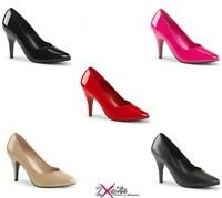 """PLEASER PINK LABEL DREAM 420 4"""" HIGH HEEL COURT SHOES WIDE FIT SIZES 3-14"""
