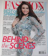 Fashion Magazine April 2012 Lily Collins Sophie Dahl Karine Pronovost