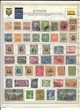 Ecuador 8 Pages Unchecked 247 Stamps