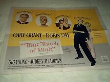 """""""That Touch Of Mink"""" Origin Half Sheet Poster, starring Cary Grant and Doris Day"""