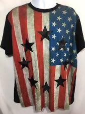Hudson Outerwear T Shirt Tee Men's Black American Flag Size 3XL