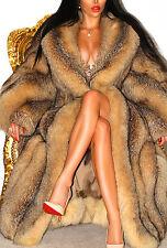 Luxurious Crystal Fox Golden rouge fourrure véritable Pleine Longueur Manteau Fantastique!