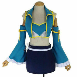 Anime Fairy Tail Lucy Heartfilia 7 Years Later Dress Cosplay@